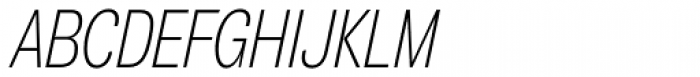 Air Compressed UltraLight Oblique Font UPPERCASE