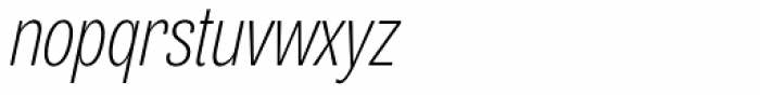 Air Compressed UltraLight Oblique Font LOWERCASE