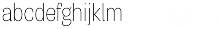 Air Condensed Thin Font LOWERCASE