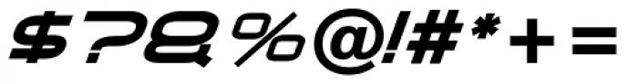 Air Flow BTN Bold Oblique Font OTHER CHARS