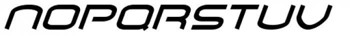 Air Flow BTN Oblique Font LOWERCASE