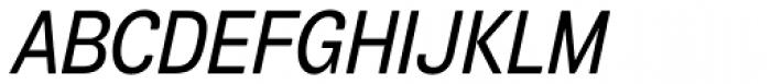 Air Soft Condensed Medium Oblique Font UPPERCASE