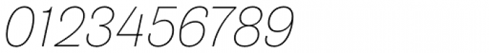 Air Thin Oblique Font OTHER CHARS