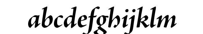 AJensonPro-BoldItSubh Font LOWERCASE