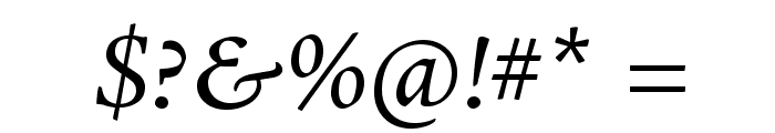 AJensonPro-It Font OTHER CHARS