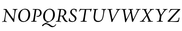 AJensonPro-It Font UPPERCASE