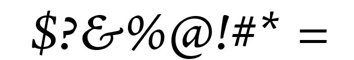 AJensonPro-ItCapt Font OTHER CHARS