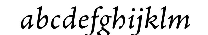AJensonPro-ItCapt Font LOWERCASE