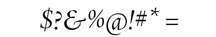 AJensonPro-ItDisp Font OTHER CHARS