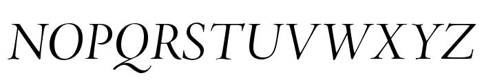 AJensonPro-ItDisp Font UPPERCASE