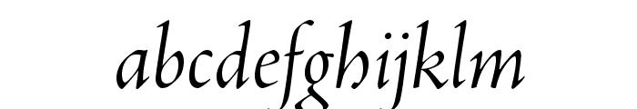 AJensonPro-ItDisp Font LOWERCASE