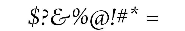 AJensonPro-ItSubh Font OTHER CHARS