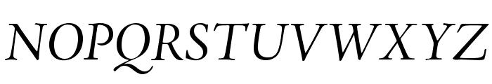 AJensonPro-ItSubh Font UPPERCASE