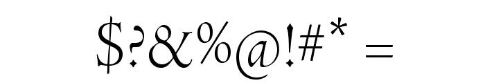 AJensonPro-LtDisp Font OTHER CHARS