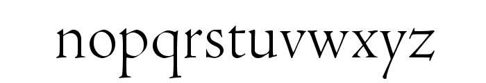 AJensonPro-LtDisp Font LOWERCASE
