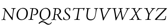 AJensonPro-LtIt Font UPPERCASE