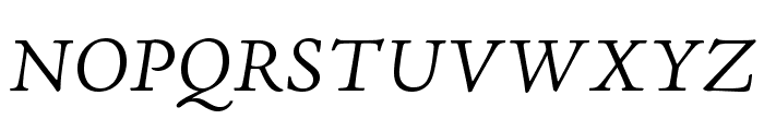 AJensonPro-LtItCapt Font UPPERCASE