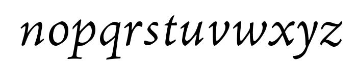 AJensonPro-LtItCapt Font LOWERCASE