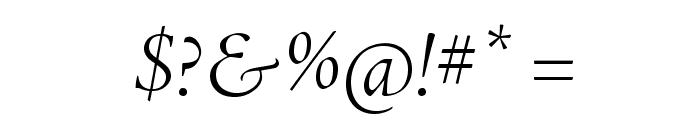 AJensonPro-LtItDisp Font OTHER CHARS