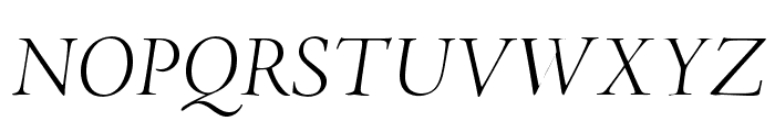 AJensonPro-LtItDisp Font UPPERCASE