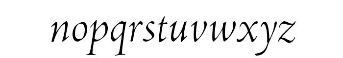 AJensonPro-LtItDisp Font LOWERCASE