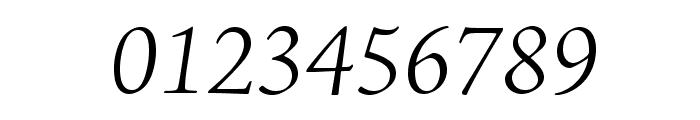 AJensonPro-LtItSubh Font OTHER CHARS