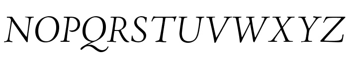 AJensonPro-LtItSubh Font UPPERCASE