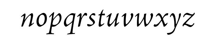 AJensonPro-LtIt Font LOWERCASE
