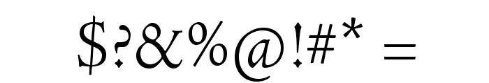 AJensonPro-LtSubh Font OTHER CHARS