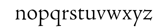 AJensonPro-LtSubh Font LOWERCASE