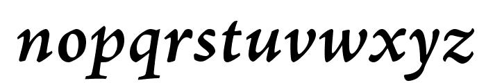 AJensonPro-SemiboldItCapt Font LOWERCASE