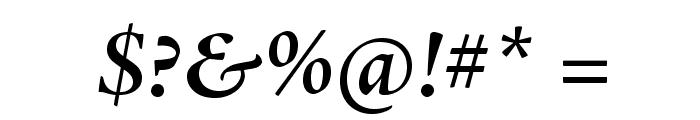 AJensonPro-SemiboldItSubh Font OTHER CHARS