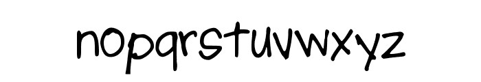 AJPutMeFirst Font LOWERCASE