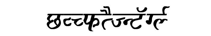 Ajay Normal Bold Italic Font UPPERCASE