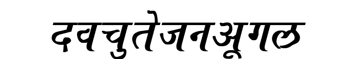 Ajay Normal Bold Italic Font LOWERCASE