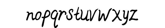 Ajieb Font LOWERCASE