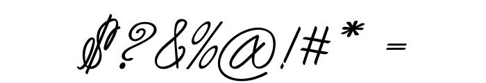 Akir-BoldItalic Font OTHER CHARS