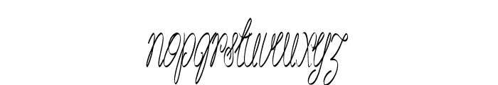 Akir-ExtracondensedItalic Font LOWERCASE