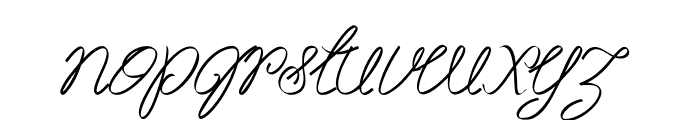 Akir-Italic Font LOWERCASE