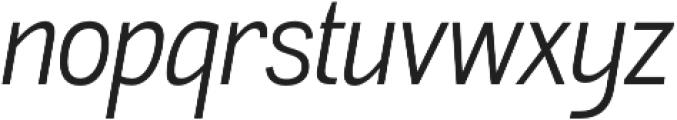 Akazan Book Italic otf (400) Font LOWERCASE