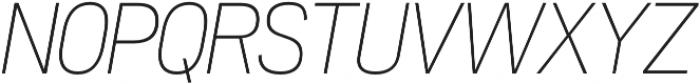Akazan Light Italic otf (300) Font UPPERCASE