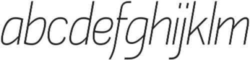 Akazan Light Italic otf (300) Font LOWERCASE