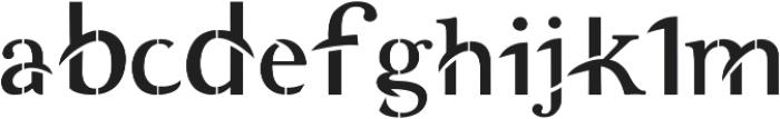 Akbaal otf (400) Font LOWERCASE