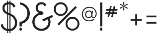 Akita otf (400) Font OTHER CHARS