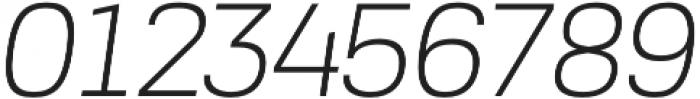 Akzentica 4F Light Italic otf (300) Font OTHER CHARS