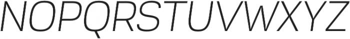 Akzentica 4F Light Italic otf (300) Font UPPERCASE