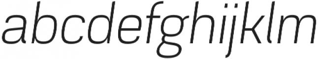 Akzentica 4F Light Italic otf (300) Font LOWERCASE