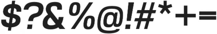 Akzentica 4F SemiBold Italic otf (600) Font OTHER CHARS