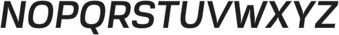 Akzentica 4F SemiBold Italic otf (600) Font UPPERCASE