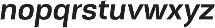 Akzentica 4F SemiBold Italic otf (600) Font LOWERCASE